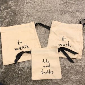 Cloth laundry bags Kate Spade